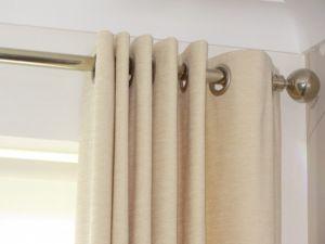 Closeup ring top curtains