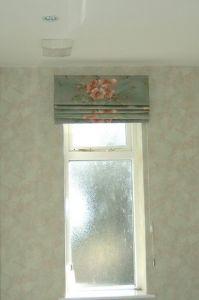 Narrow window roman blind
