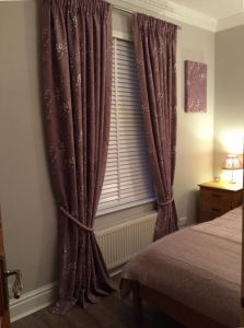 Laura Ashley pussy willow  amethyst curtains