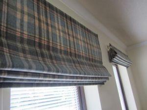 Glencoe wool roman blinds