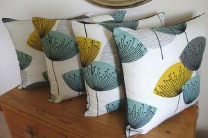 Sanderson Dandelion clocks cushions