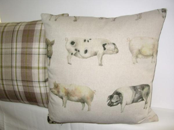 Voyage Oink Linen Cushion From Cushions To Curtains