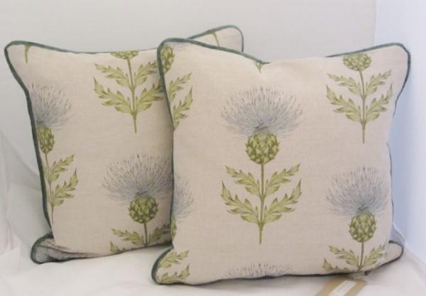 Pair Thistle cushions