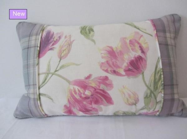 Voyage & Laura Ashley fabrics Cyclamen cushion