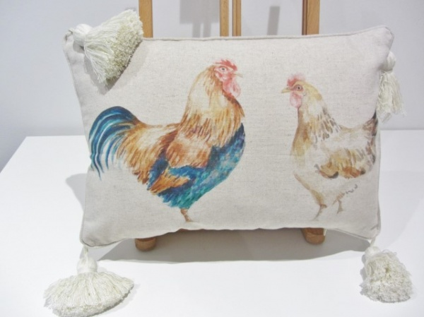Cockrel & Hen cushion_0