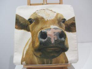 Ayrshire calf cushion cover_0