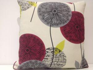 Polesia cranberry cushion